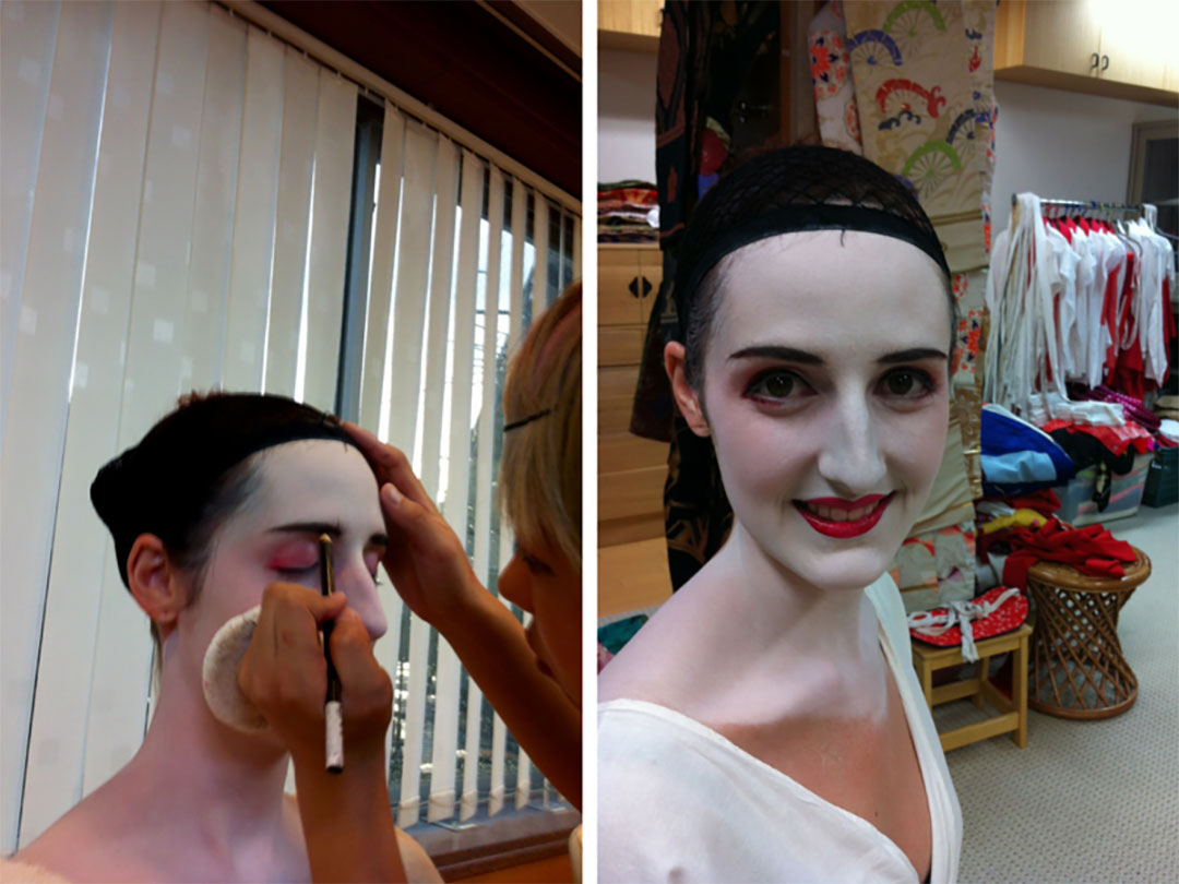 Getting traditional Maiko Geisha make up done in Kyoto for the Maiko photoshoot