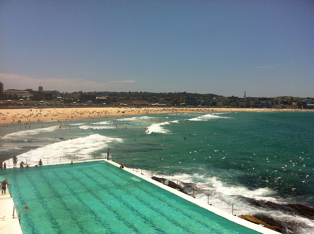 The famous Icebergs swimming pool over looking Bondi Beach in Sydney
