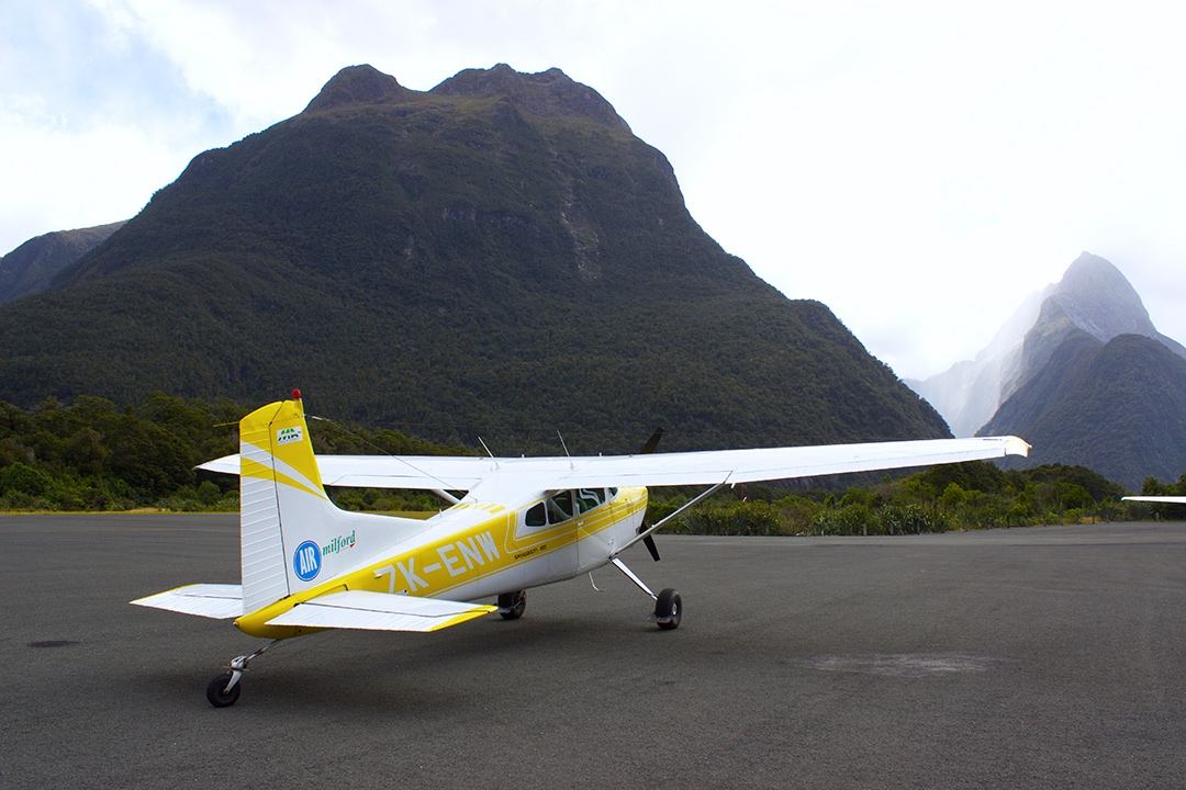 Plane at Milford Sound