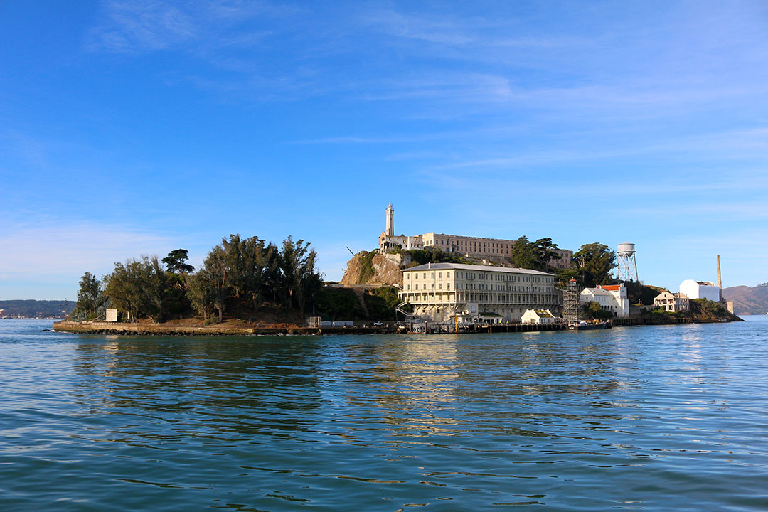 View of Alcatraz Island from the ferry