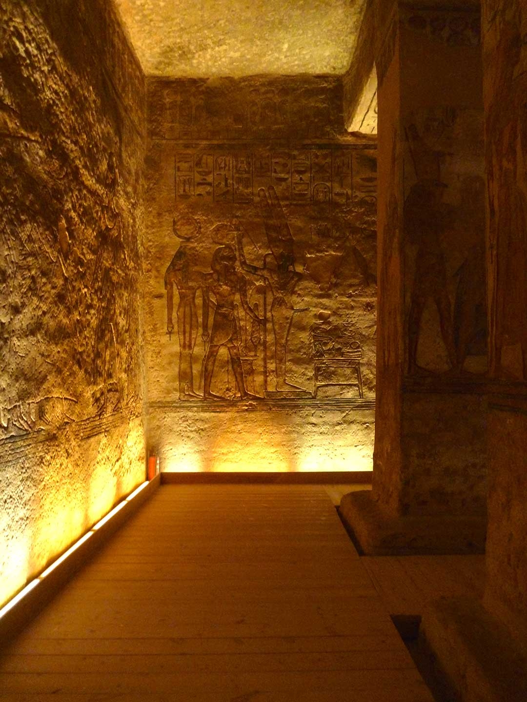 Amazing intricate and colourful carvings inside King Tut's Tomb
