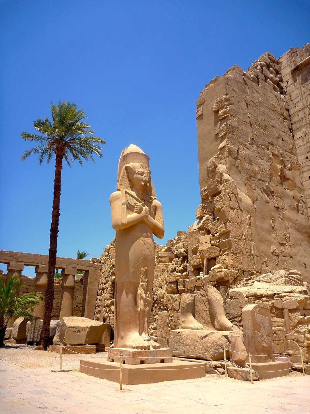 One of Hatshepsut's monuments on a really hot summer day in Egypt