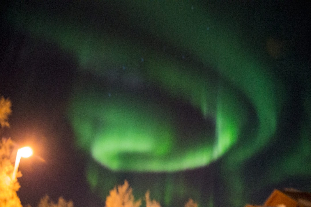 My First try at photographing the Aurora Borealis in Bjorkliden, Sweden