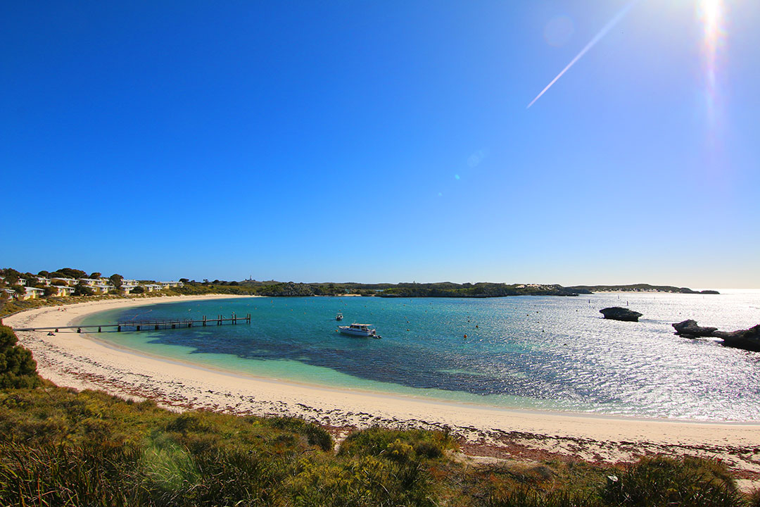 Beautiful colours of the beach in Spring on Rottnest Island