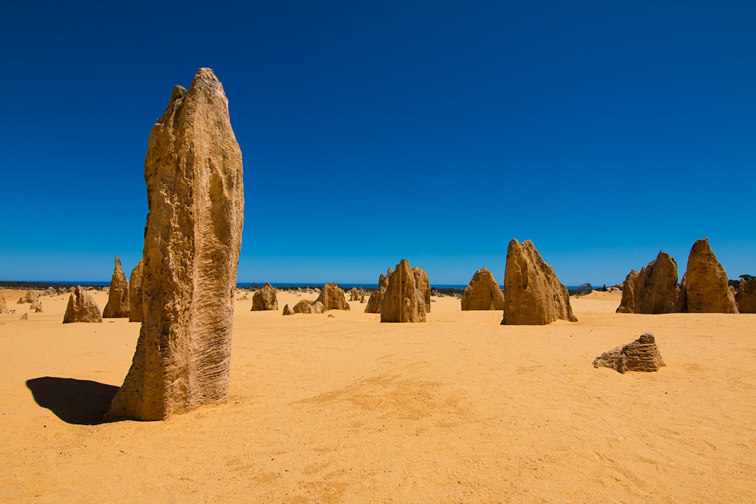 The Pinnacles in Western Australia during the day