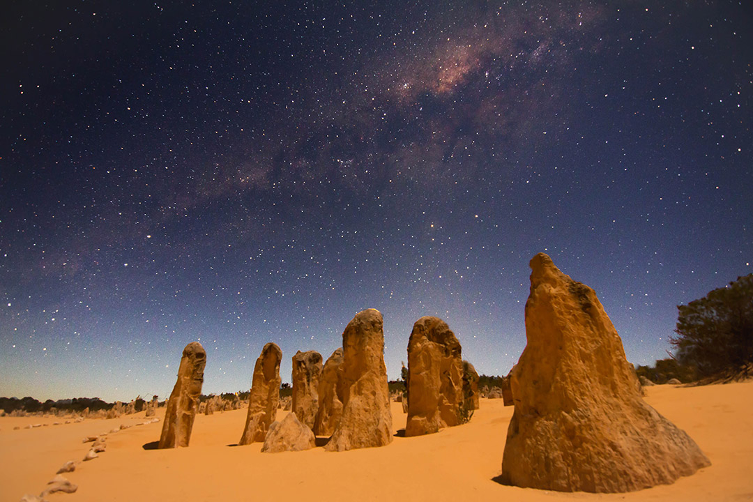 The Pinnacles in Western Australia and the Milky Way at night