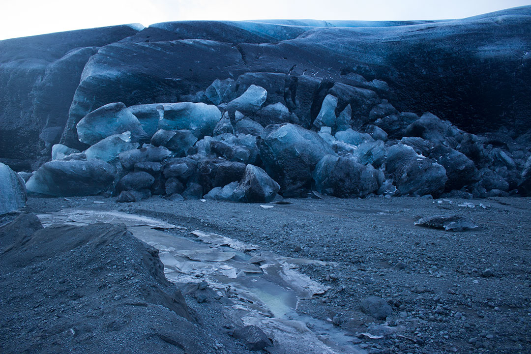 Svínafellsjökull, part of Vatnajökull Glacier in Skaftafell National Park, where you can see the Blue Ice Caves