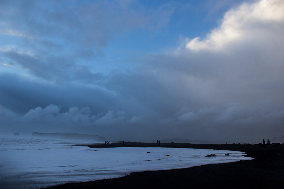 Winter in Iceland - Vik the black sand beach