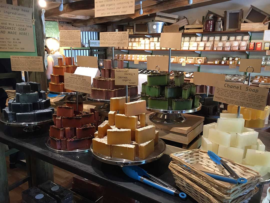 Little town of Hahndorf in the Adelaide Hills with homemade soap boutiques