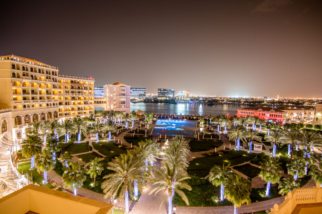 View from our room at Ritz-Carlton Abu Dhabi at night