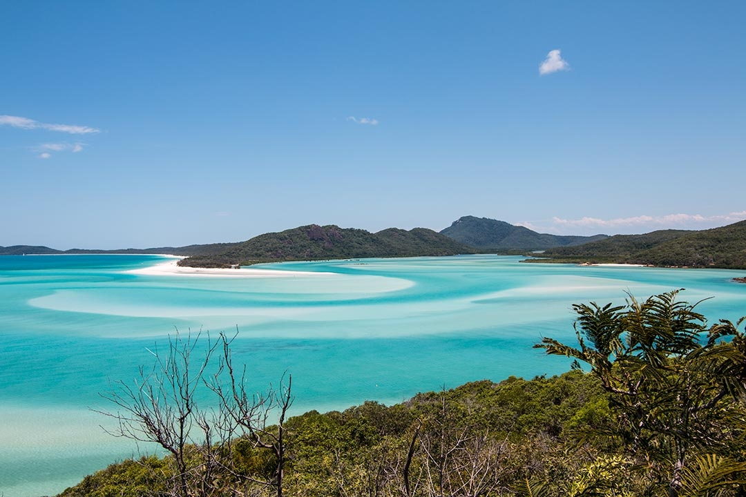 Views of Whitehaven Beach from Hill Inlet in the Whitsundays