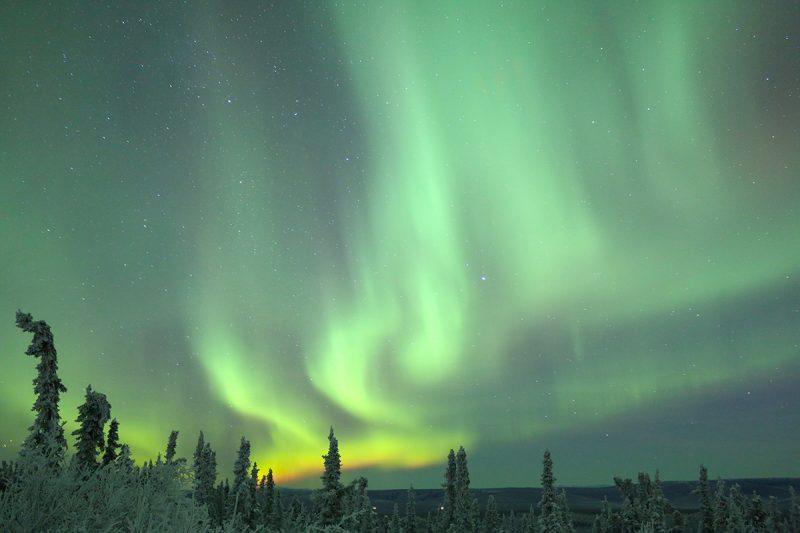 Aurora Borealis in Fairbanks Alaska